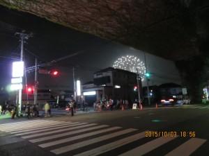 20土浦学園線大町交差点花火打上開始後1時間